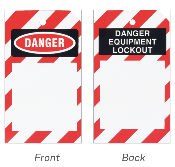equipment lockout tag ready to engrave or print on